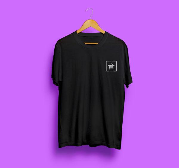 Black T-Shirt Logo Front